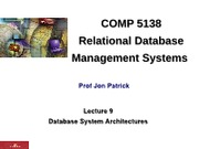Lecture 09 - DB Sys Arch