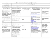 Earth Science Curriculum Support Document