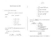 Math 101 Apr 92 Solutions
