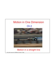 Motion in One Dimension-Lecture-May9-Ave