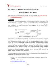 ECE530-Lab1A-Wattch Tutorial and Case Study-New(1)