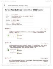 Review Test Submission: Summer 2012 Exam 3