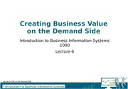 Lecture 06- CBV on the Demand Side
