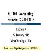 Lecture 3 AC1101 S2 1415 delivered