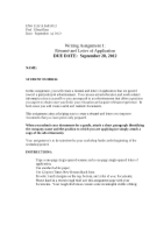 Assignment 1 Resume and Letter of Application Section A