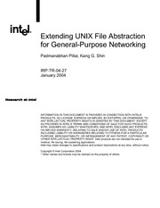 Extending UNIX File Abstraction for somthing