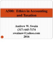 Lecture Topic Fundamentals of Accounting Ethics final posted
