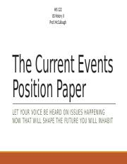 Current Events Position Paper_122