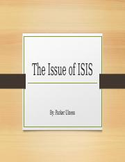 The Issue of ISIS.pptx