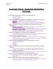 Concept Check and Applying marketing Check (Chapter 2).docx