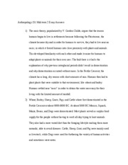 Anthropology 151 Mid-term 2 Essay Answers