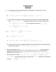 FLUID MECHANICS PROBLEMS I SOLUTIONS