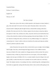 The Cherry Orchard Essay.docx