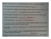 marked fill in the blank test on history 1920-1930