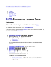 CS536 Assignments