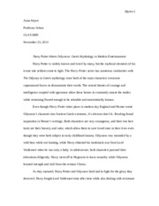 harry potter myth paper