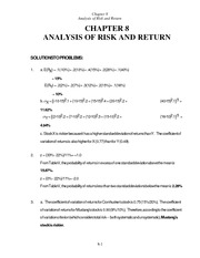 Chapter_8_-_solutions_12th_ANALYSIS_OF_RISK_AND_RETURN[1]