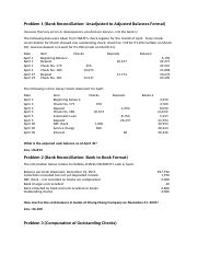 Review - Auditing (Bank Reconciliation and Proof of Cash)