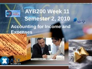 AYB200 Week 11 Income and Expenses