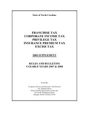 franchise & income taxes
