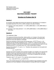 ECO 209Y Fall 2013 Problem Set 16 Solutions