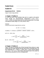Physics 1 Chapter 7 Homework Solutions