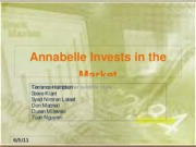 Annabelle Invests in the Market