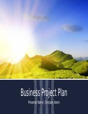 Lab 2-2 Business Project Plan - Data File