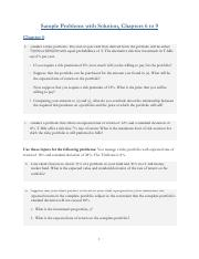 Sample Problems- Ch6-9