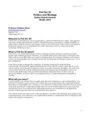 PS30 W14 Syllabus 1-2-14