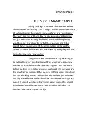 THE SECRET MAGIC CARPET.rtf