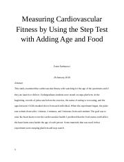Measuring Cardiovascular Fitness by Using the Step Test with Adding Age and Food.docx