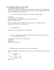 Fin 535 ch6 exercises solution