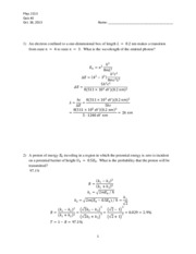 PHYS 2213 Dr. Chapman Quiz 2 Solutions