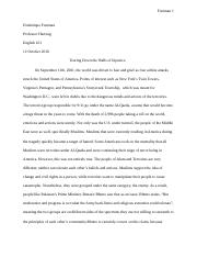 Essay 2: Tearing Down the Walls of Injustice: Revised