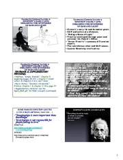 Einstein's Early Life - Dreaming the Mysteries of E&M and Light notes