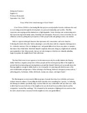 Gran torino essay