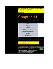CF 11th edition Chapter 11 Excel Master