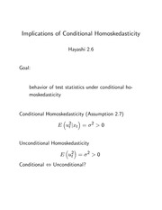15 Implications of Conditional Homoskedasticity