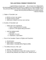 Law from a Feminist Perspective outline (1)