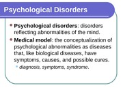 Chapter 12 - Mental Disorders