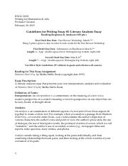Essay 2 Guidelines ENGL 21001 Spring 2019.docx