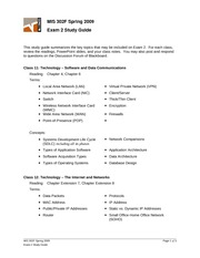 SP09-Exam 2 Study Guide