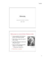 Lec 30 Ethnic groups