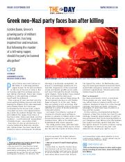 1907 Greek neo-Nazi party faces ban after killing