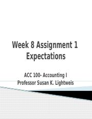Week 8 Assignment 1 Expectations.pptx