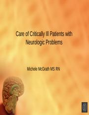 Care of Critically Ill Patients with Neurologic Problems Master with voiceover.pptx