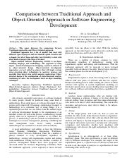 Paper 10-Comparison between Traditional Approach and Object-Oriented Approach in Software Engineerin