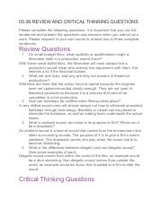 05.06 REVIEW AND CRITICAL THINKING QUESTIONS (Theater)