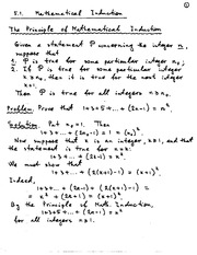 Mathematical Induction Notes